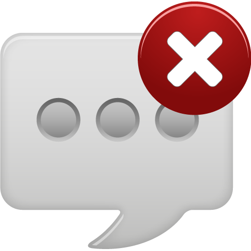 Message bubble delete round icon
