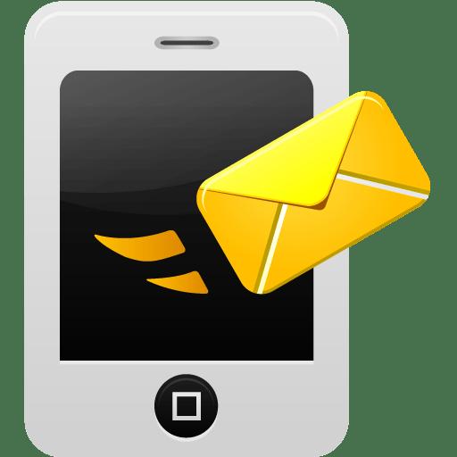 Smartphone-message-send icon