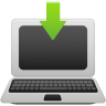 Laptop-download icon