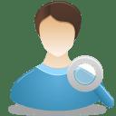 Search-Male-User icon