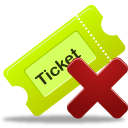 Remove ticket 1 icon