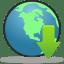Globe-Download icon