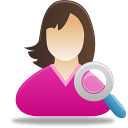 Female-user-search icon