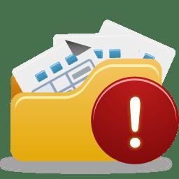 Open Folder Warning icon