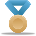 Metal bronze blue icon