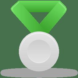 Metal silver green icon