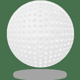 Sport golf ball icon