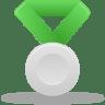 Metal-silver-green icon