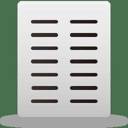 Text columns icon