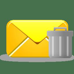 Email trash icon