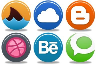 Pretty Social Media 2 Icons