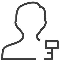 User man key icon