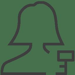User woman key icon