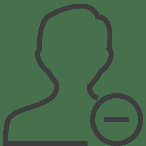 User-man-remove icon