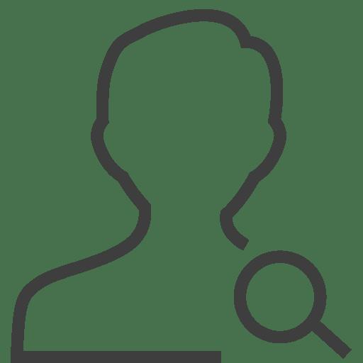 User-man-search icon
