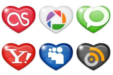 Sweet Social Media Icons