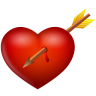 Arrow-and-heart icon