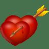 Arrow-and-hearts icon