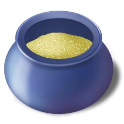 Sugar bowl filled icon