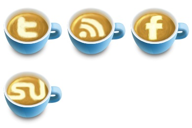 Latte Art Social Icons