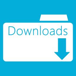 Folders OS Downloads Folder Metro icon