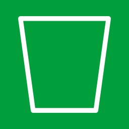 Folders OS Recycle Bin Empty alt Metro icon