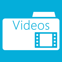 Folders OS Videos Folder Metro icon