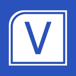 Office Apps Visio Metro icon