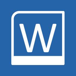 Office Apps Word alt 2 Metro icon