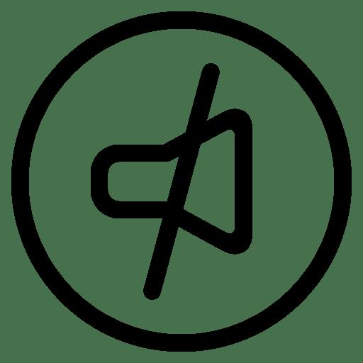 Audio-off icon
