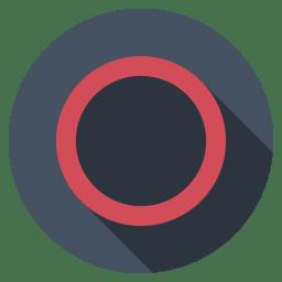 Playstation circle dark icon