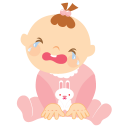 Baby-crying icon