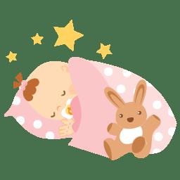Baby sleeping icon