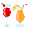 Summer cocktails icon