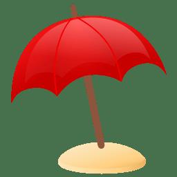 Sun umbrella icon