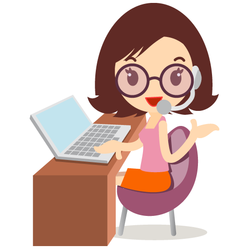 Callcenter girls glasses icon
