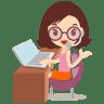 Callcenter-girls-glasses icon