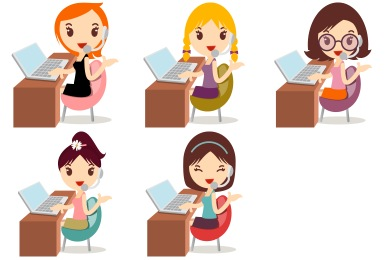 Callcenter Girls Icons