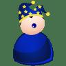 Harlequin-blue icon