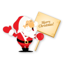 Santa merry christmas icon