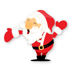 Santa hand icon