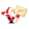 Santa-merry-christmas icon