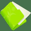 Folder-flower-green icon