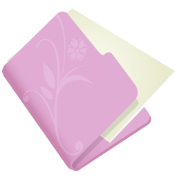 Folder flower lila icon