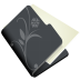 Folder-flower-black icon