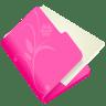 Folder-flower-pink icon