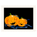 Stamp pumpkins icon