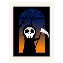 Stamp skeleton icon