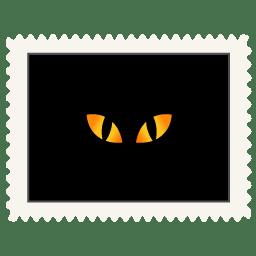 Stamp black cat eyes icon