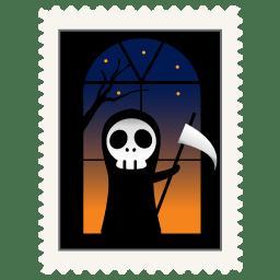 Stamp skeleton icon